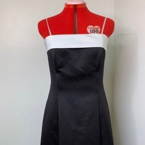 90s Prom Dress Vintage Black and White Gown!